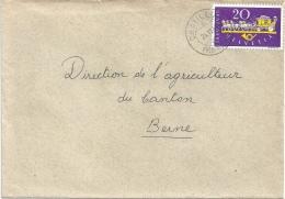 Brief  Châtillon Près Delémont - Bern          1949 - Brieven En Documenten