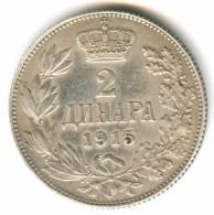 Serbia 2 Dinara 1915 Without Signature - Serbie