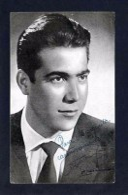 *Antonio Giner - Orquesta Montgrins* Firma Autógrafa. Impreso Promocional. Meds: 109x172 Mms. - Autógrafos