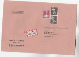 REGISTERED Dusseldorf GERMANY COVER Stamps 130 BEER BREWING PLANT Brewery Alcohol  2x 180 LODER - Beers