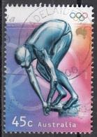 1862c Australia 2000 Sport Olimpici : Pattinaggio Artistico Viaggiato Used Perf. 14 E 3/4 X 14 - Pattinaggio Artistico
