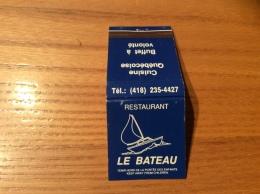 """Pochette D´allumettes Canada """"RESTAURANT LE BATEAU - QUEBEC"""" - Boites D'allumettes"""