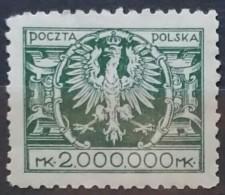 POLONIA 1924. Eagle On Large Shield. NUEVO - MNH ** - 1919-1939 República
