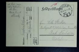 German Post In Poland, Fieldpostcard 30-12-1914 Pozen  Poznan To Bad Neuheim