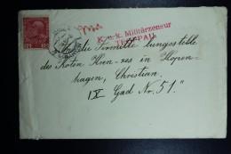 Austrian Post In Poland, Cover 1915 Krakow To Copenhagen CDS Krakau - Krakow Red Handstamp KuK Militairzensur Troppau