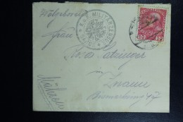 Austrian Post In Poland,  Cover 1916 Sanok CDS Sanok  KuK Militairzensur Circulair Cancel