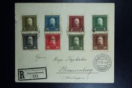 Austrian Post In Poland, Registered Letter 1916 KuK Etappenpostamt Noworadomsk  To Brannenburg