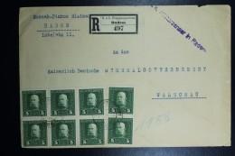 Austrian Post In Poland, Registered Letter 1916 KuK Radom To Warsaw To K.D. Generalgouvernement  Zensur Cancel