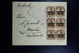 German Post In Lithuania Postgebiet Ob. Ost. Letter Wilna Vilno To Warshaw Censor Konigsverg See Text - Occupation 1914-18