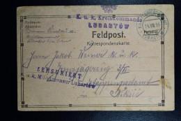Austrian Post In Poland  Feldpost Postcard KuK Kreiskommando Etappenpostamt Lubartow  To Niksic