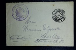 Austrian Post In Poland  Cover From Chelm To Hamburg KuK Etappenpostamt Chelm In Double Circle Austrian Handstamp - Covers & Documents