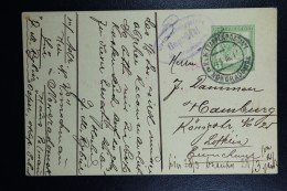Austrian Post In Poland, Postcard 1917 Feldpost 8 Heller Noworadomsk To Hamburg  Violet Army Censor