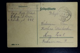 German Post In Poland, Fieldpost Card Of Polish Pilsudski Brigade Feldpostamt 378in Double Circle See Text