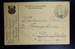 Austrian Post In Poland, Fieldpost Card Of Polish Karta Polowa Polish Legion Censored To Stryj