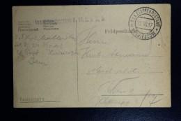 Austrian Post In Poland, Fieldpost Card Of Military Postoffice Hrubieszow To Vienna 1917