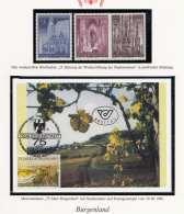 MAXIMUMKARTE - 75 Jahre Burgenland - Mit Sondermarke Und Erstagstempel Vom 20.9.1996 + 3 Briefmarken - 25 Jahrestag ... - Maximumkarten (MC)