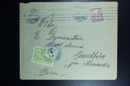 Poland,  LetterBudapest To Przedborz City Local Stamp With 15 F. Hungarien Stamp Now Across The Border - 1919-1939 Repubblica