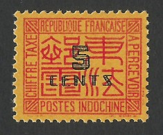 Indochina, 5 C. 1938, Sc # J65, MNH - Indochina (1889-1945)