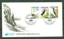 Féroé 1978 FDC Yv 30/32   Mi  36/38 Seabirds - Islas Faeroes