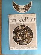 1881 - Suisse Valais Oeil-de-Perdix Fleur De Pinot 1978 - Etiquettes