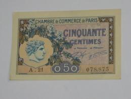 Chambre De Commerce De Paris - 50 Centimes 1920 **** EN ACHAT IMMEDIAT **** - Handelskammer