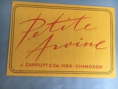1885 - Suisse Valais Petite Arvine Carrupt Chamoson - Autres