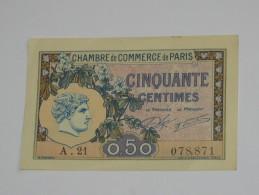 Chambre De Commerce De Paris - 50 Centimes 1920 **** EN ACHAT IMMEDIAT **** - Cámara De Comercio