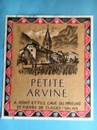 1886 - Suisse Valais Petite Arvine A.Pont St.Pierre De Clages - Etiquettes