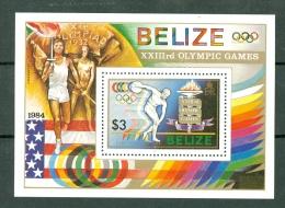 Belize 1984 Yv Bf 52**, Mi 63** Olympic Games 1984  Los Angeles - Belize (1973-...)