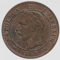 Napoléon III - 2 Centimes - 1862 K - B. 2 Centimes