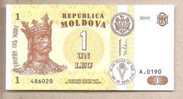 Moldavia - Banconota Non Circolata FdS Da 1 Leu - 2010 - Moldova