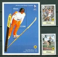 Ghana 1994 Mi 2034/35** + Bf 253**, Yv 1631/32** + Bl 252**  100 Years Of The Olympic Games - Ghana (1957-...)
