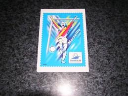 MARSEILLE Coupe Du Monde 1998 France 98 World Cup Carte Avec Timbre Oblitérée 1 Er Jour Football Foot - Souvenir Cards