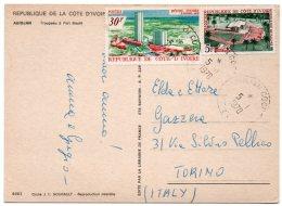 COTE D´IVOIRE - ABIDJAN TROUPEAU A PORT BOUET / THEMATIC STAMPS-HOTEL - Costa D'Avorio