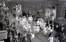 1951 CORSO PARADE FESTZUG OFFENBACH AM MAIN GERMANY DEUTSCHLAND ORIGINAL AMATEUR 35mm NEGATIVE NOT PHOTO NO FOTO BILD - Photographie