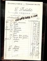 Facture G. DUBALLET CERILLY ALLIER Charcuterie Comestibles - Alimentare