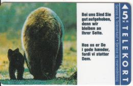 DENMARK - Bears, Ford, Tirage 2000, 03/93, Mint - Schede Telefoniche