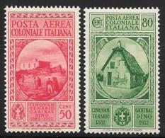 Italian Colonies, Scott # C8-9 Mint Hinged Garibaldi, 1932 - Italy