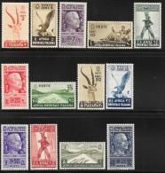 Italian Eastern Africa, Scott # 1-13 Mint Hinged Part Set Various Subjects, 1938 - Italian Eastern Africa