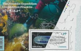 SC2853 THE FRANKLIN EXPEDITION (AUGUST 6, 2015) SOUVENIR SHEET