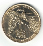 Medaille Arthus Bertrand 74.Chamonix Mont Blanc - Téléphérique 2007 - Arthus Bertrand