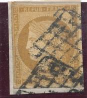 N°1 SUR FRAGMENT DOUBLE GRILLE 1849.