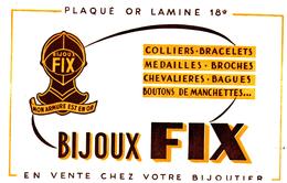 Bj B F/Buvard  Bijoutier Fix   (N= 1) - Buvards, Protège-cahiers Illustrés
