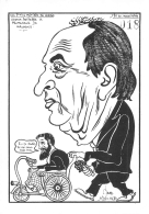 GASTON DEFFERRE LE PROMENEUR DE MALADES  LES P'TITS METIERS DE LARDIE CARICATURE POLITIQUE SATIRIQUE - Lardie
