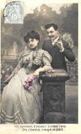 [DC3347] CPA - COPPIA DI INNAMORATI - Viaggiata 1906 - Old Postcard - Coppie