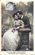 [DC3348] CPA - COPPIA DI INNAMORATI - Viaggiata 1906 - Old Postcard - Coppie
