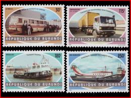 Burundi 1067/70 **/MNH   Transport
