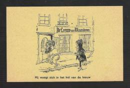 """Spreuken : Café De Leeuw Van Vlaanderen. """"Hij Waagt Zich In Het Hol Van De Leeuw""""  (4707) - Humour"""