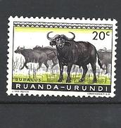 RUANDA URUNDI - 1959 Fauna Syncerus Caffer BUFFALO HINGED - Ruanda