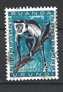 RUANDA URUNDI - 1959 Fauna Colobus Sp. USED - Ruanda